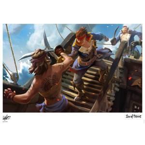 Affiche Sea Of Thieves - Combat d'Épée - Édition Limitée (42 cm x 30 cm)