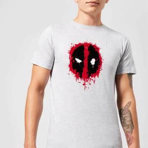 Marvel Deadpool Splat Face T-Shirt - Grey