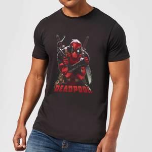 Marvel Deadpool Ready For Action T-Shirt - Black