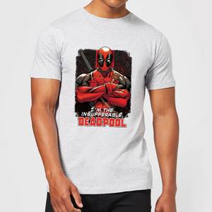 Marvel Deadpool Crossed Arms T-Shirt - Grey