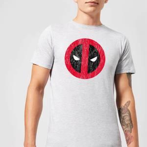 Marvel Deadpool Cracked Logo T-Shirt - Grey