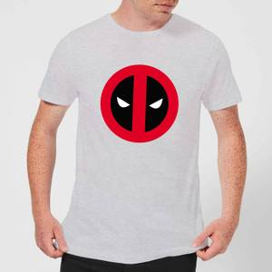 Marvel Deadpool Clean Logo T-Shirt - Grey