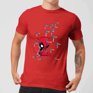 Marvel Deadpool Cartoon Knockout T-Shirt - Rot