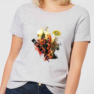 Marvel Deadpool Outta The Way Nerd Women's T-Shirt - Grey