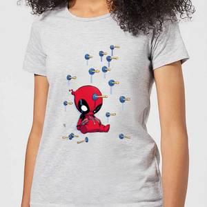 T-Shirt Femme Deadpool (Marvel) Cartoon Knockout - Gris