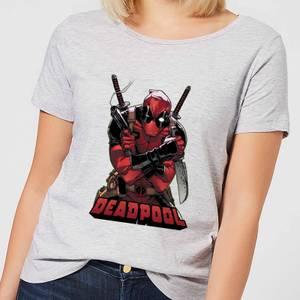 Marvel Deadpool Ready For Action Women's T-Shirt - Grey