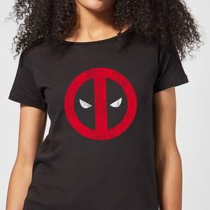 T-Shirt Femme Deadpool (Marvel) Logo Craqué - Noir