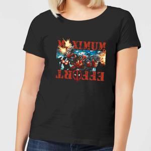 Marvel Deadpool Maximum Effort Women's T-Shirt - Black