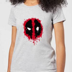 T-Shirt Femme Deadpool (Marvel) Splat Face - Gris
