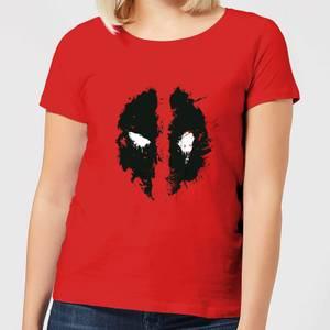T-Shirt Femme Deadpool (Marvel) Splat Face - Rouge