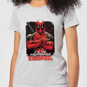Marvel Deadpool Crossed Arms Women's T-Shirt - Grey