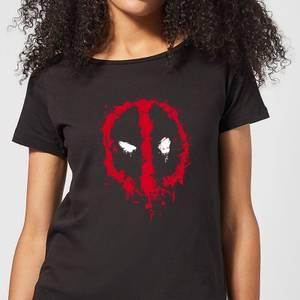 Marvel Deadpool Splat Face Women's T-Shirt - Black