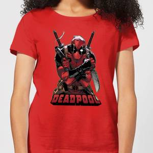 T-Shirt Femme Deadpool (Marvel) Ready For Action - Rouge