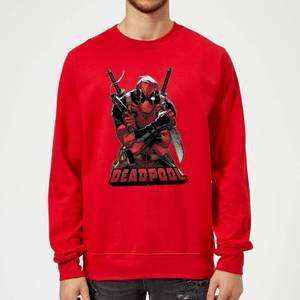 Sweat Homme Deadpool (Marvel) Ready For Action - Rouge