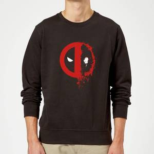 Felpa Marvel Deadpool Split Splat Logo - Nero