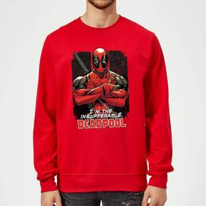 Marvel Deadpool Crossed Arms Sweatshirt - Red