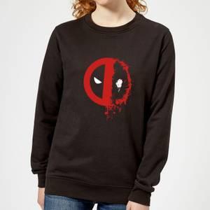 Sweat Femme Deadpool (Marvel) Split Splat Logo - Noir