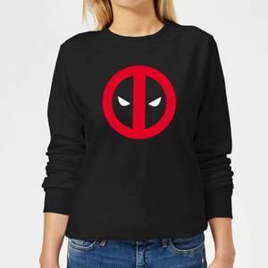 Sweat Femme Deadpool (Marvel) Logo Propre - Noir