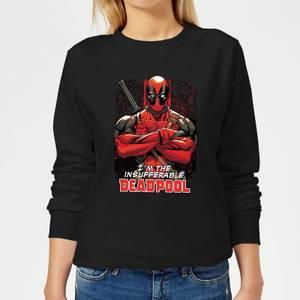 Marvel Deadpool Crossed Arms Women's Sweatshirt - Black
