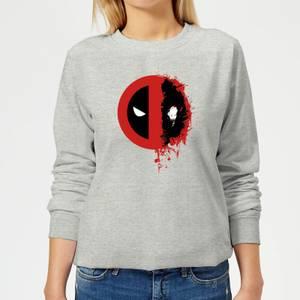 Sweat Femme Deadpool (Marvel) Split Splat Logo - Gris