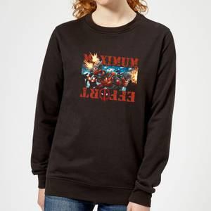 Marvel Deadpool Maximum Effort Women's Sweatshirt - Black