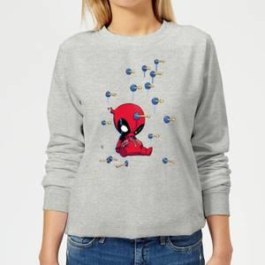 Marvel Deadpool Cartoon Knockout Damen Pullover - Grau