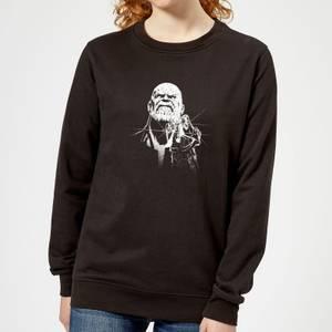 Marvel Avengers Infinity War Fierce Thanos Women's Sweatshirt - Black