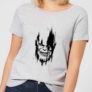 Marvel Avengers Infinity War Thanos Face Women's T-Shirt - Grey