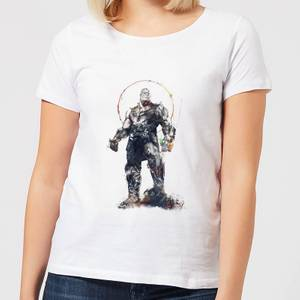 T-Shirt Femme Avengers Infinity War ( Marvel) Croquis Thanos - Blanc