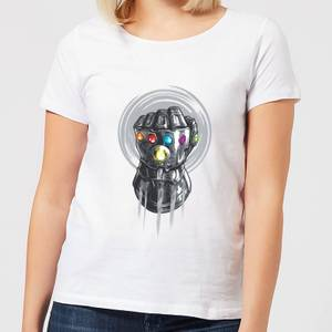 T-Shirt Femme Avengers Infinity War ( Marvel) Thanos Infinite Power Fist - Blanc