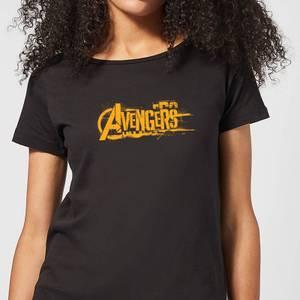 Marvel Avengers Infinity War Orange Logo Dames T-shirt - Zwart
