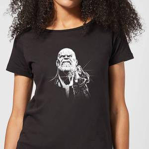 Marvel Avengers Infinity War Fierce Thanos Women's T-Shirt - Black