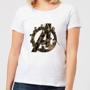 Marvel Avengers Infinity War Avengers Logo Women's T-Shirt - White