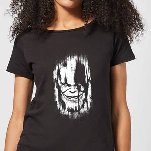 Marvel Avengers Infinity War Thanos Face Women's T-Shirt - Black