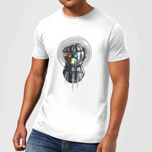 T-Shirt Homme Avengers Infinity War ( Marvel) Thanos Infinite Power Fist - Blanc
