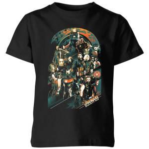 Marvel Avengers Infinity War Team Kinder T-shirt - Zwart