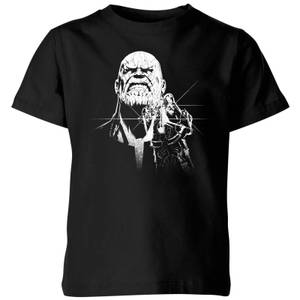 Marvel Avengers Infinity War Fierce Thanos Kinder T-Shirt - Schwarz