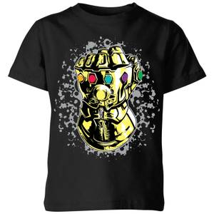 Marvel Avengers Infinity War Fist Comic Kinder T-Shirt - Schwarz