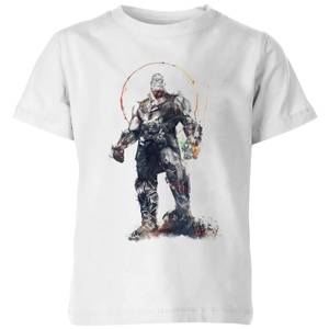 Marvel Avengers Infinity War Thanos Sketch Kinder T-Shirt - Weiß