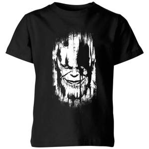 T-Shirt Marvel Avengers Infinity War Thanos Face - Nero - Bambini