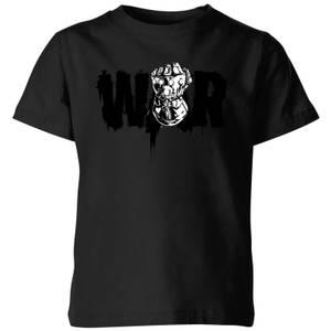 Marvel Avengers Infinity War War Fist Kinder T-Shirt - Schwarz