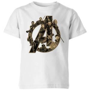 T-Shirt Enfant Avengers Infinity War ( Marvel) Logo Avengers - Blanc