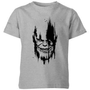 Marvel Avengers Infinity War Thanos Face Kinder T-Shirt - Grau