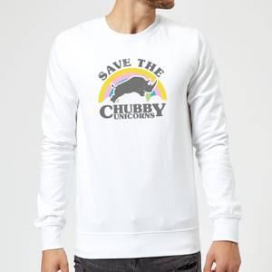 Save The Chubby Unicorns Sweatshirt - White