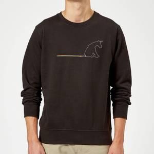 Unicorn Skid Mark Sweatshirt - Black