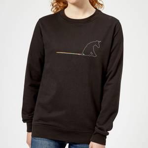 Unicorn Skid Mark Women's Sweatshirt - Black
