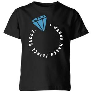 I Wanna Marry Prince Harry Kids T-Shirt - Black