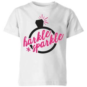 Harkle Sparkle Kids' T-Shirt - White