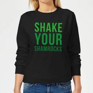 Shake Your Shamrocks Women's Sweatshirt - Black