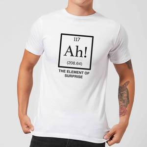 Ah The Element Of Surprise T-Shirt - White